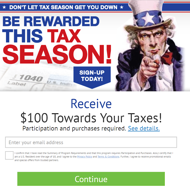 Receive $100 towards your taxes!