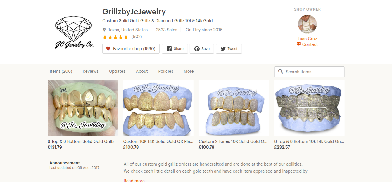 starting an online business grillz