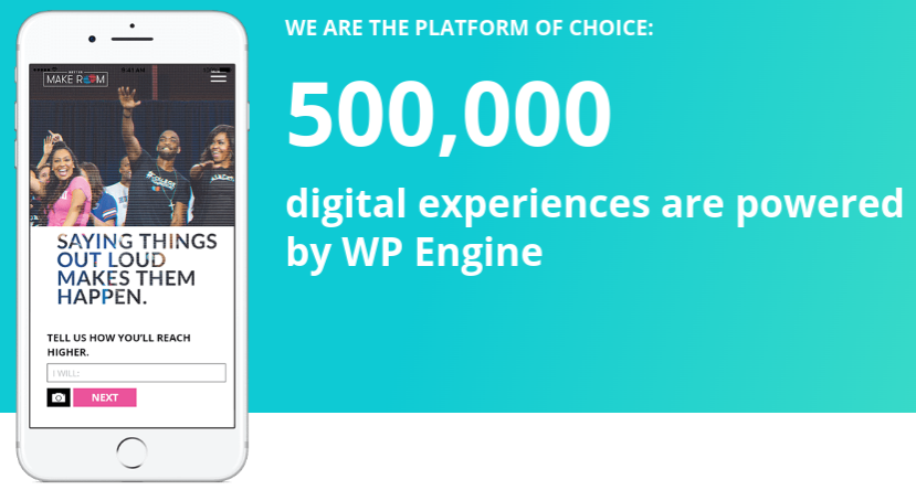 wp engine review 500000