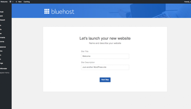bluehost review set up wordpress blog