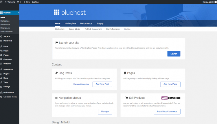 bluehost managed wordpress