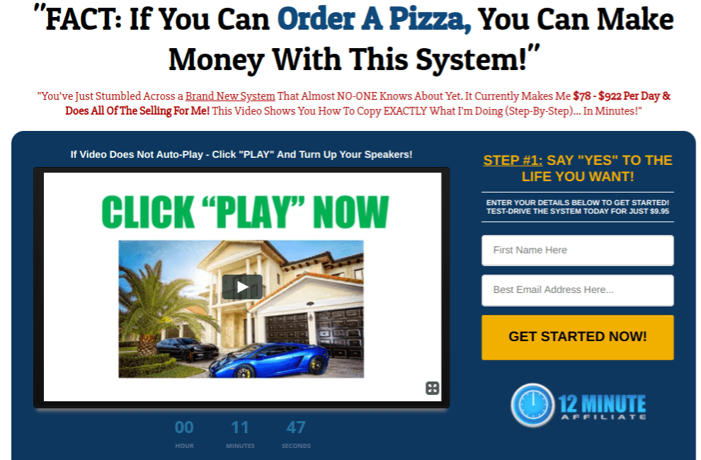 12 minute affiliate system review